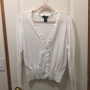 Lane Bryant beautiful white cardigan size 18/20